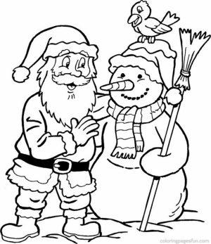 Online Santa Coloring Page   83723