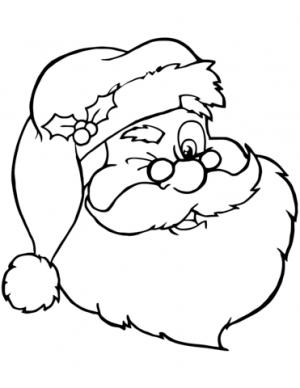 Online Santa Coloring Page   88361