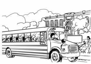 Online School Bus Coloring Pages   f8shy