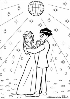 Online Teen Titans Coloring Pages for Kids   8QgDr