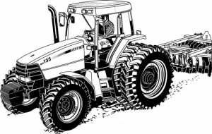 Online Tractor Coloring Pages   28344