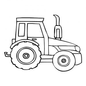 Online Tractor Coloring Pages   43569