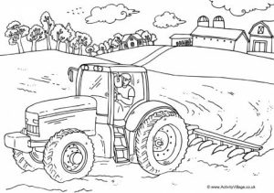 Online Tractor Coloring Pages   50959