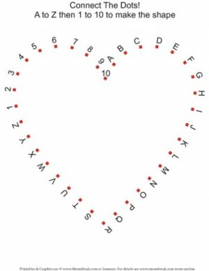 Online Valentine Dot to Dot Coloring Pages   AS1YC