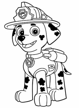 Paw Patrol Coloring Pages for Preschoolers   83693