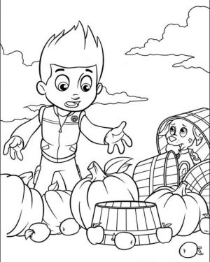 Paw Patrol Preschool Coloring Pages to Print Online   63614