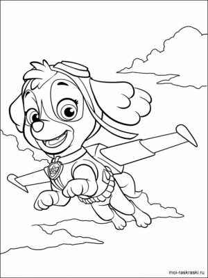 Paw Patrol Preschool Coloring Pages to Print Online   94026