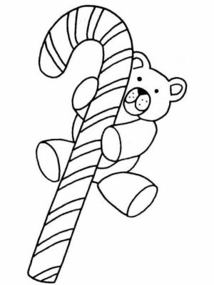Picture of Candy Cane Coloring Page Free for Children   32941