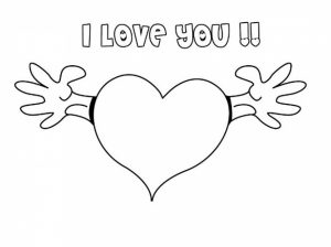 Picture of I Love You Coloring Pages Free for Children   upmly