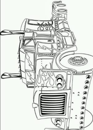 Picture of Optimus Prime Coloring Page Free for Children   upmly
