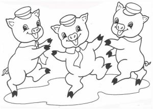 Pig Coloring Pages to Print Out   67219