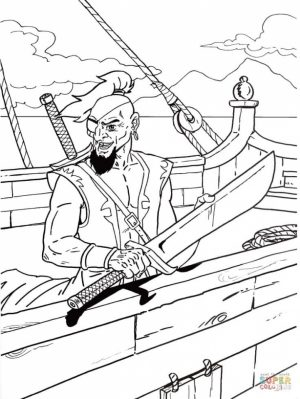 Pirate Coloring Pages for Kids   ycb51