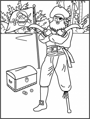 Pirate Coloring Pages Printable   u869t