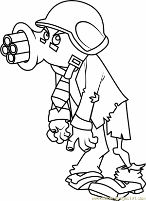 Plants Vs. Zombies Coloring Pages Kids Printable   71634