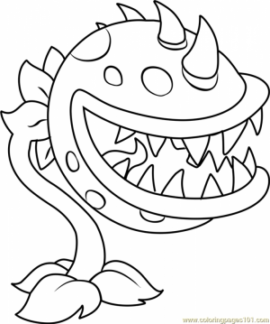 Plants Vs. Zombies Coloring Pages to Print for Kids   15270