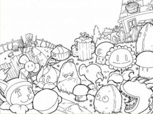 Plants Vs. Zombies Coloring Pages to Print Online   y1648