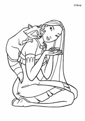 Pocahontas Coloring Pages Printable for Kids   WY71R