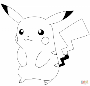 Pokemon Pikachu Coloring Pages   a5dg3