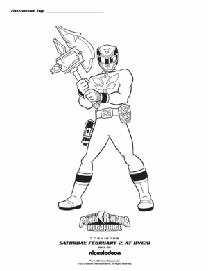 Power Rangers Megaforce Coloring Pages   60317