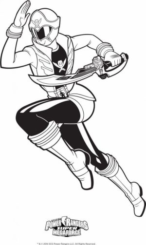 Power Rangers Megaforce Coloring Pages Printable   30672