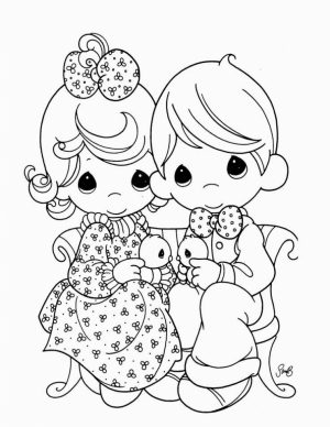 Precious Moments Boy and Girl Coloring Pages   yccb3