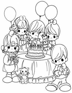 Precious Moments Coloring Pages Best Friends   63718