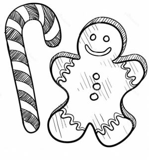 Preschool Candy Cane Coloring Page to Print   28185