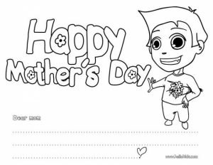 Preschool Coloring Pages of Mothers Day Free to Print out   62947
