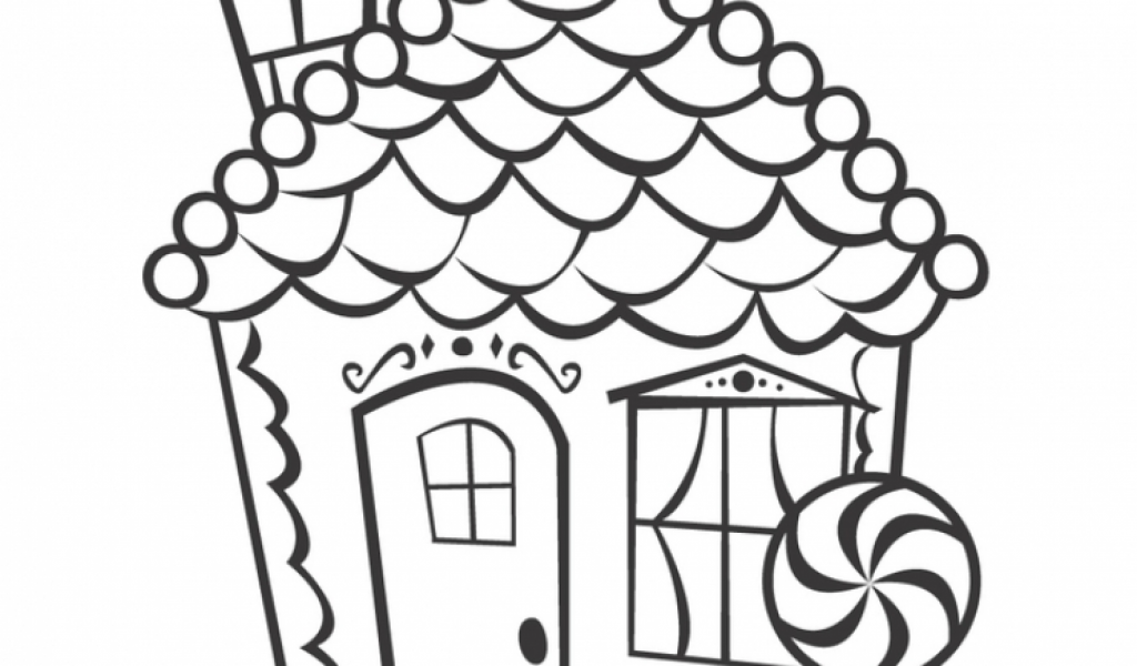 Printable Coloring Pages Gingerbread House Gingerbread