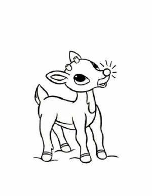 Beautiful Rudolph Coloring Pages Gallery New Printable Coloring