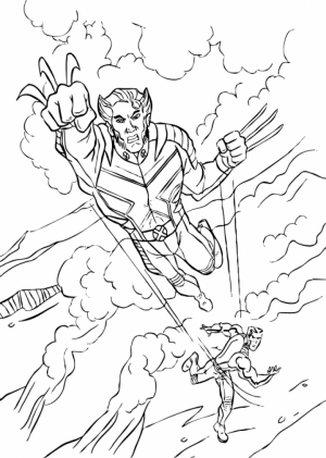 Preschool Wolverine Coloring Pages to Print   Drx0J