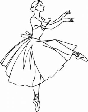 Princess Balerina Coloring Pages   669543