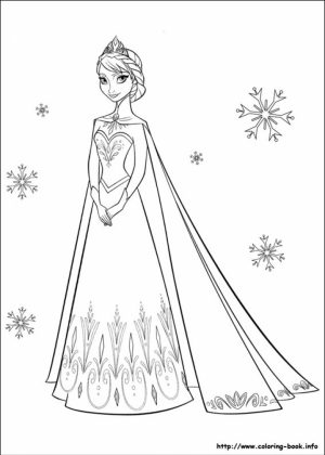 Princess Elsa Coloring Pages   17215