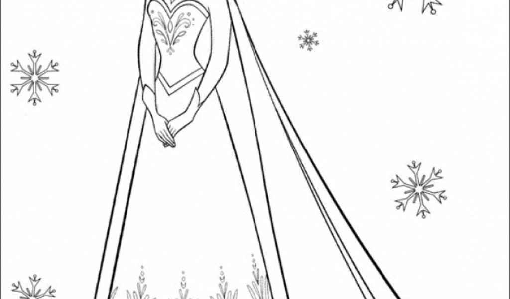 Princess Elsa Coloring Page Get This Pages 17215