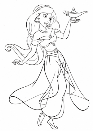 Princess Jasmine Printable Coloring Pages for Girls   26721