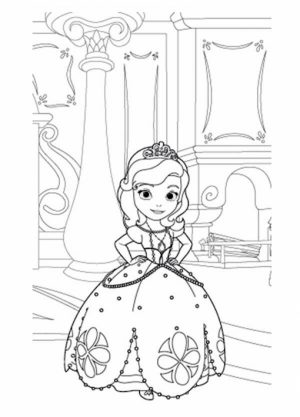 princess sofia the first in her room coloring page for girls   36724