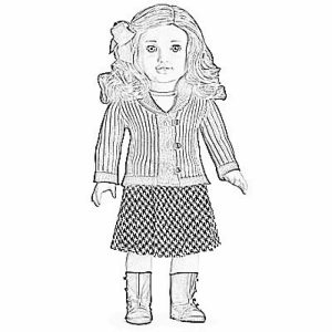 Printable American Girl Coloring Pages Online   vu6h22