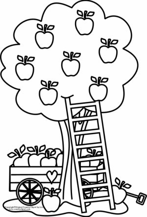 Printable Apple Coloring Pages Online   gvjp19