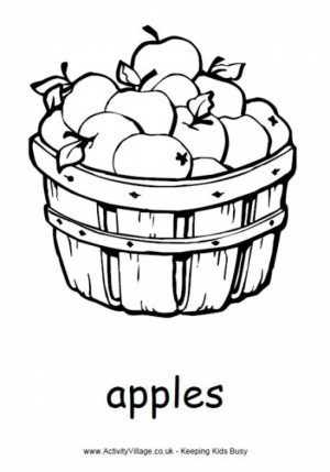 Printable Apple Coloring Pages   p79hb