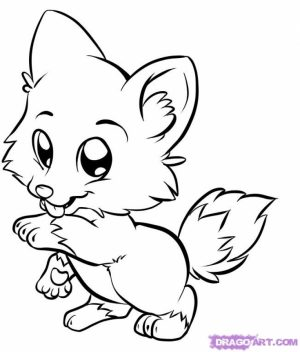 Printable Baby Animal Coloring Pages   73400