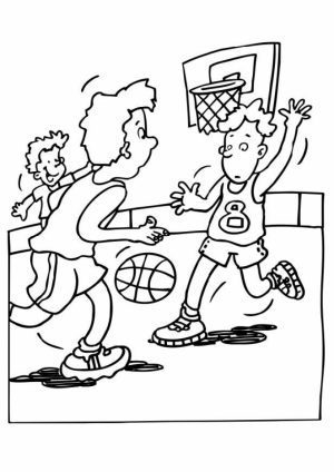 Printable Basketball Coloring Pages   673365
