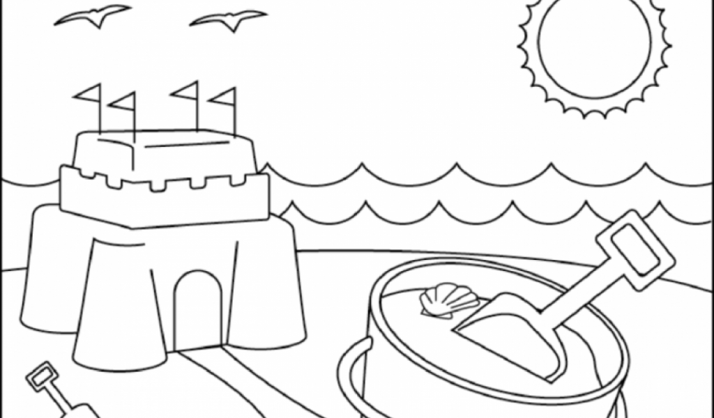 Get This Printable Beach Coloring Pages Online N9F5U