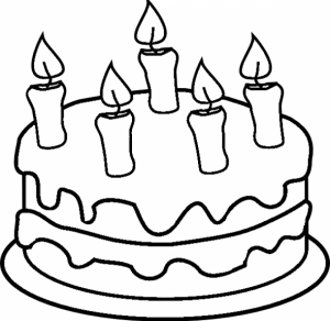 Printable Birthday Cake Coloring Pages   41558