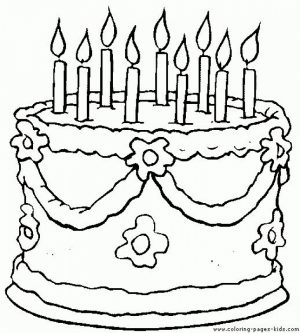 Printable Birthday Cake Coloring Pages   87141