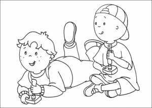 Printable Caillou Coloring Pages   dqfk32