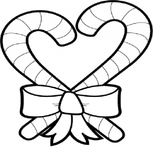 Printable Candy Cane Coloring Page for Kids   5177