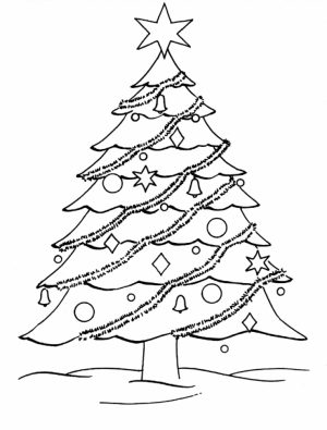 Printable Christmas Tree Coloring Pages   18651