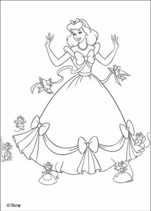 Printable Cinderella Coloring Pages   16530