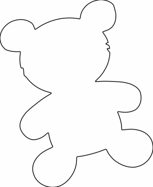 Printable Coloring Pages of Blank Teddy Bear   ugh25