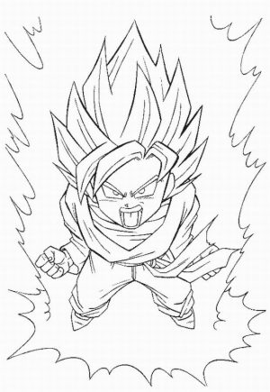 Printable DBZ Coloring Pages Online   91060
